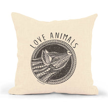 "Load image into Gallery viewer, Pillowcase Pig ""Love Animals"""