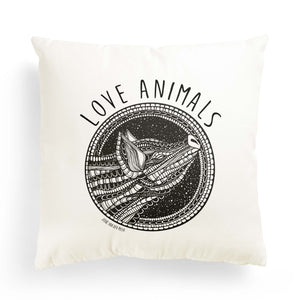 "Pillowcase Pig ""Love Animals"""