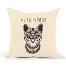 "Load image into Gallery viewer, Pillowcase Cat ""You are purrfect"""