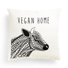 "Load image into Gallery viewer, Pillowcase Cow ""Vegan Home"""