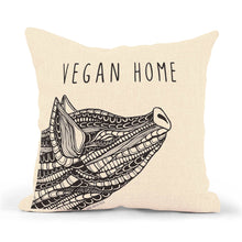"Load image into Gallery viewer, Pillowcase Pig ""Vegan Home"""