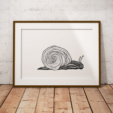 Load image into Gallery viewer, Art Print Snail 🐌