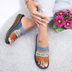 Super Comfy Three-Color Stitching Slipper Summer Sandals