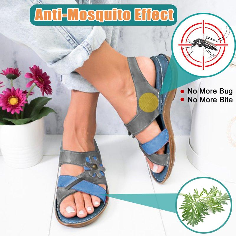 🔥Upgrade Version🔥 -- Anti-Mosquito Essence Women's Comfortable Summer Floral Sandals
