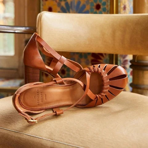 Women Chunky Heel Round Toe Casual Sandals