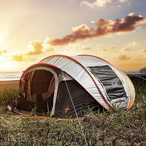 Pop Up Quick Ship Camping Tent Six Man - [variant-title] - TheRightBuy4BackPacks.com