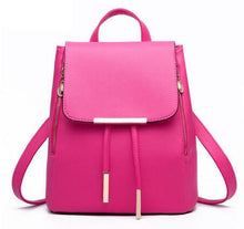 Load image into Gallery viewer, High Quality Backpack For Women, Adjustable Strap, Top Handler, Zipper - [1-Rose Red] - TheRightBuy4BackPacks.com