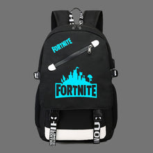 Load image into Gallery viewer, Fortnite Game Fortress Night Lens Backpack, Adjustable Strap, Top Handler, Buckle Lock, Zipper - [1-Black] - TheRightBuy4BackPacks.com