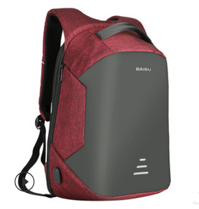 Anti Theft Laptop Backpacks, Adjustable Strap, Top Handler, Zipper - [1-Red-1-L] - TheRightBuy4BackPacks.com