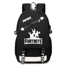 Load image into Gallery viewer, Fortnite Game Fortress Night Lens Backpack, Adjustable Strap, Top Handler, Buckle Lock, Zipper - [1-Black 2] - TheRightBuy4BackPacks.com