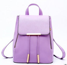 Load image into Gallery viewer, High Quality Backpack For Women, Adjustable Strap, Top Handler, Zipper - [1-Violet] - TheRightBuy4BackPacks.com