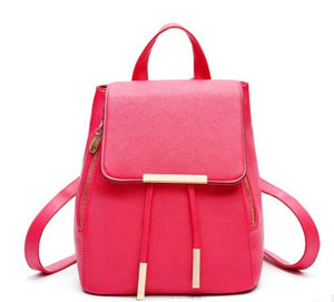 High Quality Backpack For Women, Adjustable Strap, Top Handler, Zipper - [1-Red] - TheRightBuy4BackPacks.com