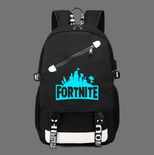 Load image into Gallery viewer, Fortnite Game Fortress Night Lens Backpack, Adjustable Strap, Top Handler, Buckle Lock, Zipper - [1-Black 1] - TheRightBuy4BackPacks.com