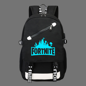 Fortnite Game Fortress Night Lens Backpack, Adjustable Strap, Top Handler, Buckle Lock, Zipper - [1-Black 1] - TheRightBuy4BackPacks.com