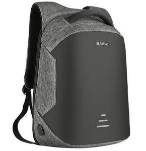 Anti Theft Laptop Backpacks, Adjustable Strap, Top Handler, Zipper - [1-Gray-1-L] - TheRightBuy4BackPacks.com
