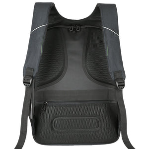 Back Viewed Anti Theft Laptop Backpacks, Adjustable Strap, Top Handler, Zipper - [1-Black-1-L] - TheRightBuy4BackPacks.com
