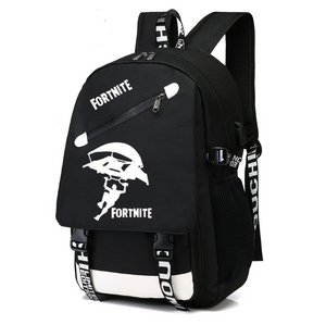Fortnite Game Fortress Night Lens Backpack, Adjustable Strap, Top Handler, Buckle Lock, Zipper - [1-Black 4] - TheRightBuy4BackPacks.com