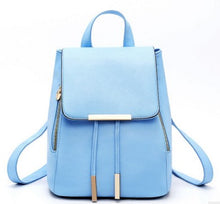 Load image into Gallery viewer, High Quality Backpack For Women, Adjustable Strap, Top Handler, Zipper - [1-Light Blue] - TheRightBuy4BackPacks.com