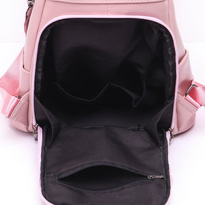 Open Viewed Designer Backpacks For Teenage School Girls Going Back To School, Adjustable Strap, Top Handler, Sling Strap, Ribbon Design - [1-Pink] - TheRightBuy4BackPacks.com