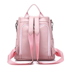 Load image into Gallery viewer, Back Viewed Designer Backpacks For Teenage School Girls Going Back To School, Adjustable Strap, Top Handler, Sling Strap, Ribbon Design - [1-Pink] - TheRightBuy4BackPacks.com