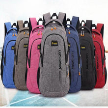 Load image into Gallery viewer, High Capacity Travel Backpack, Adjustable Strap, Top Handler, Front Pocket, Side Pocket, Zipper - [7-Mix Colors] - TheRightBuy4BackPacks.com