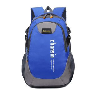 Camping Waterproof Backpack, Adjustable Strap, Top Handler, Front Pocket, Zipper - [1-Blue] - TheRightBuy4BackPacks.com
