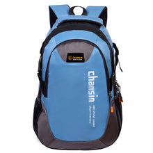 Load image into Gallery viewer, Camping Waterproof Backpack, Adjustable Strap, Top Handler, Front Pocket, Zipper - [1-Sky Blue] - TheRightBuy4BackPacks.com
