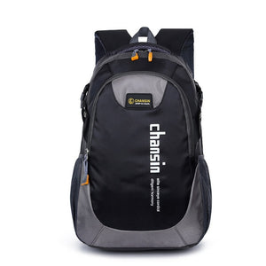 Camping Waterproof Backpack, Adjustable Strap, Top Handler, Front Pocket, Zipper - [1-Black] - TheRightBuy4BackPacks.com