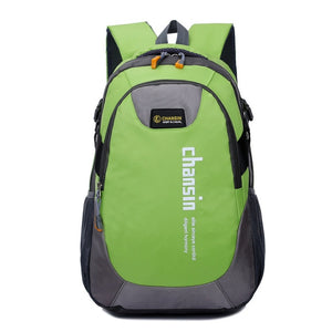 Camping Waterproof Backpack, Adjustable Strap, Top Handler, Front Pocket, Zipper - [1-Green] - TheRightBuy4BackPacks.com
