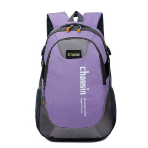 Camping Waterproof Backpack, Adjustable Strap, Top Handler, Front Pocket, Zipper - [1-Purple] - TheRightBuy4BackPacks.com