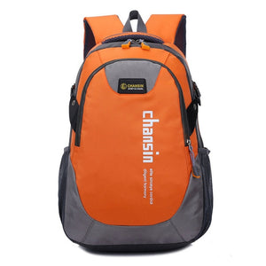 Camping Waterproof Backpack, Adjustable Strap, Top Handler, Front Pocket, Zipper - [1-Orange] - TheRightBuy4BackPacks.com