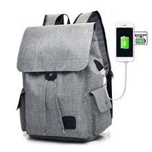 Load image into Gallery viewer, Fashion USB Chargeable  Backpack, Adjustable Strap, Top Handler, USB Charging Port - [1-Gray] - TheRightBuy4BackPacks.com