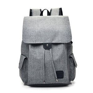 Fashion USB Chargeable  Backpack, Adjustable Strap, Top Handler, USB Charging Port - [1-Gray] - TheRightBuy4BackPacks.com