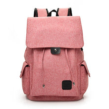 Load image into Gallery viewer, Fashion USB Chargeable  Backpack, Adjustable Strap, Top Handler, USB Charging Port - [1-Pink] - TheRightBuy4BackPacks.com