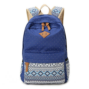 Heavy Duty Canvas Tote Bags, Adjustable Strap, Top Handler, Lower Pocket, Side Pocket, Zipper - [1-Blue] - TheRightBuy4BackPacks.com