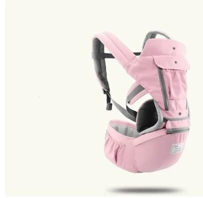 Ergonomic Baby/Infant Carrier with Hip Seat 3 in 1, Adjustable Strap, Breathable Cloth - [6612-Pink] - TheRightBuy4BackPacks.com