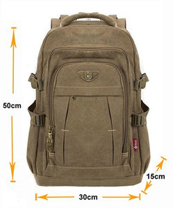 Man's Canvas Vintage Backpacks - [variant-title] - TheRightBuy4BackPacks.com