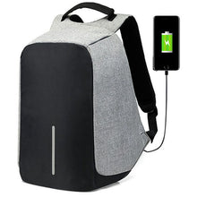 Load image into Gallery viewer, Business USB Backpack with Interior Cell Phone Pocket, Top Handler, Adjustable Strap - [1-Gray] - TheRightBuy4BackPacks.com