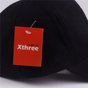 Warm solid Wool and Cotton baseball cap -hat gorras fitted hats for women or Men by Xthree