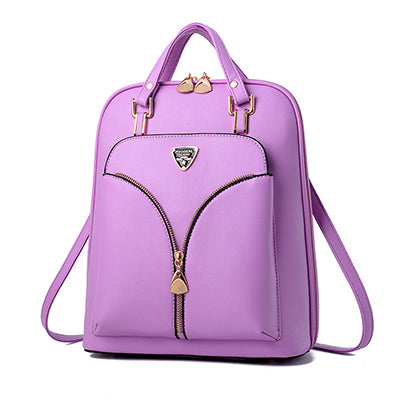 Anti Theft Travel Backpack, Adjustable Strap, Top Handler, Zipper, Front Pocket - [1-Purple] - TheRightBuy4BackPacks.com