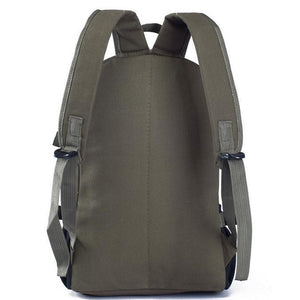 Back Viewed British Rucksack - Very Stylish, Adjustable Strap, Top Handler, - [1-Army Green] - TheRightBuy4BackPacks.com