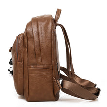 Load image into Gallery viewer, Side Viewed Large Capacity Bag, Adjustable Strap, Top Handler, Front Pocket, Zipper - [1-Brown] - TheRightBuy4BackPacks.com