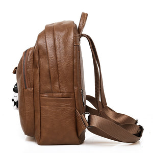 Side Viewed Large Capacity Bag, Adjustable Strap, Top Handler, Front Pocket, Zipper - [1-Brown] - TheRightBuy4BackPacks.com