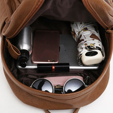 Load image into Gallery viewer, Large Capacity Bag, Adjustable Strap, Top Handler, Front Pocket, Zipper, Umbrella, Cellphone, Laptop, Perfume, Sunglasses - [1-Brown] - TheRightBuy4BackPacks.com