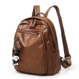 Large Capacity Bag, Adjustable Strap, Top Handler, Front Pocket, Zipper - [1-Brown] - TheRightBuy4BackPacks.com