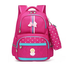 Load image into Gallery viewer, Kids School Bag, Adjustable Strap, Top Handler, Pouch, Lower Pocket, Side Pocket, Zipper - [1-Pink] - TheRightBuy4BackPacks.com