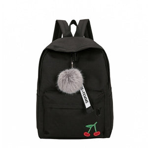 Backpack Bags For Teenage Girls, Adjustable Strap, Top Handler, Front Pocket, Zipper - [1-Black Cherry] - TheRightBuy4BackPacks.com