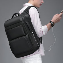 Load image into Gallery viewer, Young Men Wearing Anti-theft Travel Backpack Waterproof Laptop Backpack w USB, Adjustable Strap, Top Handler, Lower Pocket, Side Pocket, Zipper - [1-Set 1] - TheRightBuy4BackPacks.com