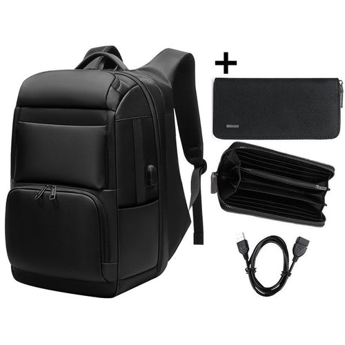 Anti-theft Travel Backpack Waterproof Laptop Backpack w USB, Adjustable Strap, Top Handler, Lower Pocket, Side Pocket, Zipper - [1-Set 2] - TheRightBuy4BackPacks.com
