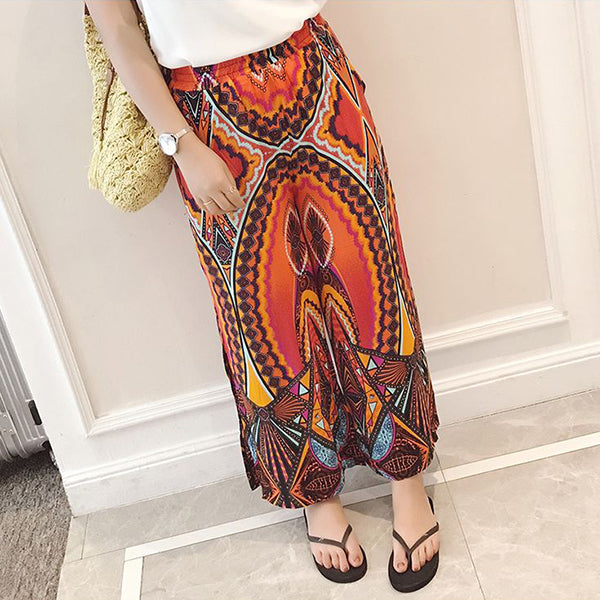 Split Chiffon Wide-leg Pants